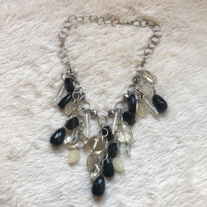 Jewelry - Beaded Silver-tone Necklace
